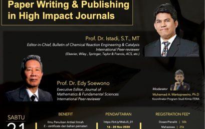 Jurusan Sains Itera bersama ISMS Adakan Online Workshop Series: Paper Writing & Publishing in High Impact Journals